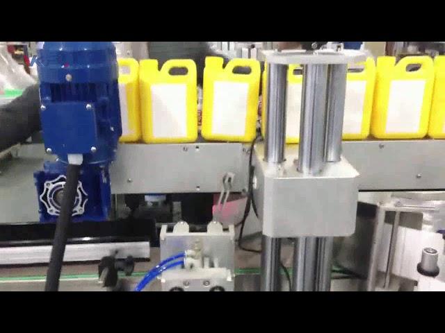 स्वचालित क्लीनर तरल बोतल लेबलिंग मशीन