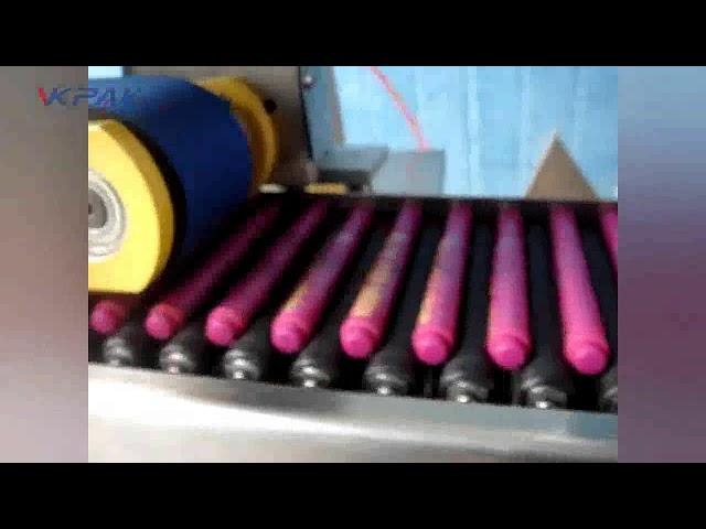 स्वचालित क्रेयॉन लिप बाम स्टिक लेबलिंग मशीन