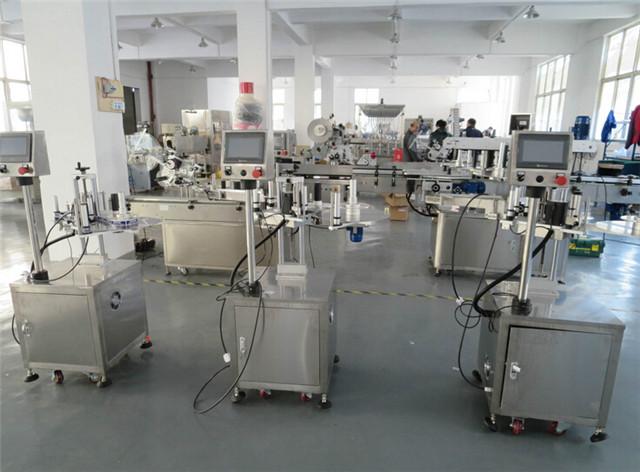 डिब्बों बक्से विवरण के लिए स्वचालित फ्लैट सतह शीर्ष लेबलिंग मशीनें