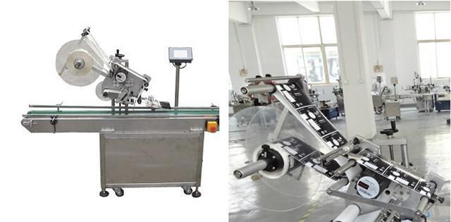 डिब्बों के बक्से के लिए स्वचालित फ्लैट सतह शीर्ष लेबलिंग मशीनें