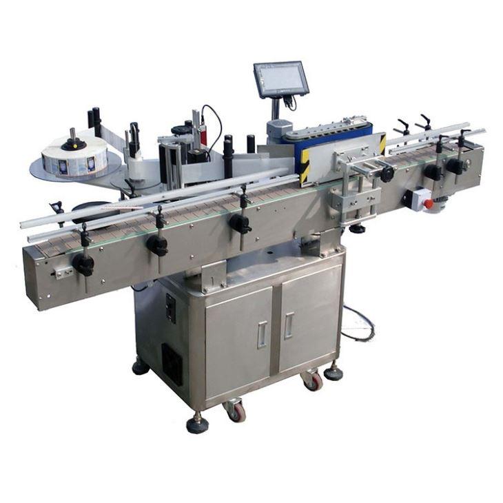 स्वचालित दौर बोतल चिपकने वाला स्टीकर लेबलिंग मशीन