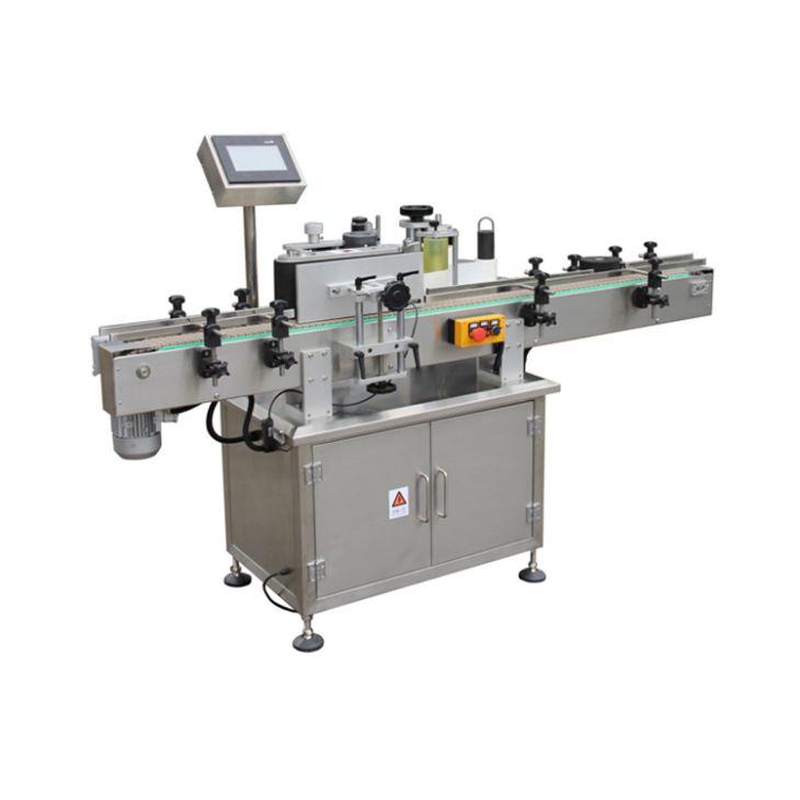 पालतू बोतलों के लिए स्वचालित स्व-चिपकने वाला स्टिक वर्टिकल लेबलिंग मशीन