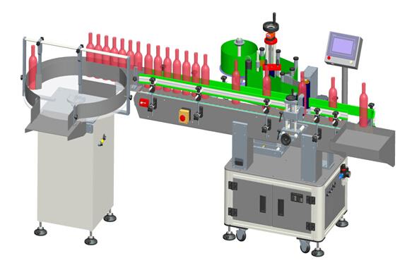 स्वचालित कार्यक्षेत्र रेड वाइन पारदर्शी लेबल लेबलिंग मशीन विवरण