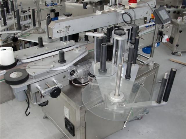 डबल प्रमुख शराब की बोतलें प्लास्टिक कंटेनर लेबलिंग उपकरण विवरण