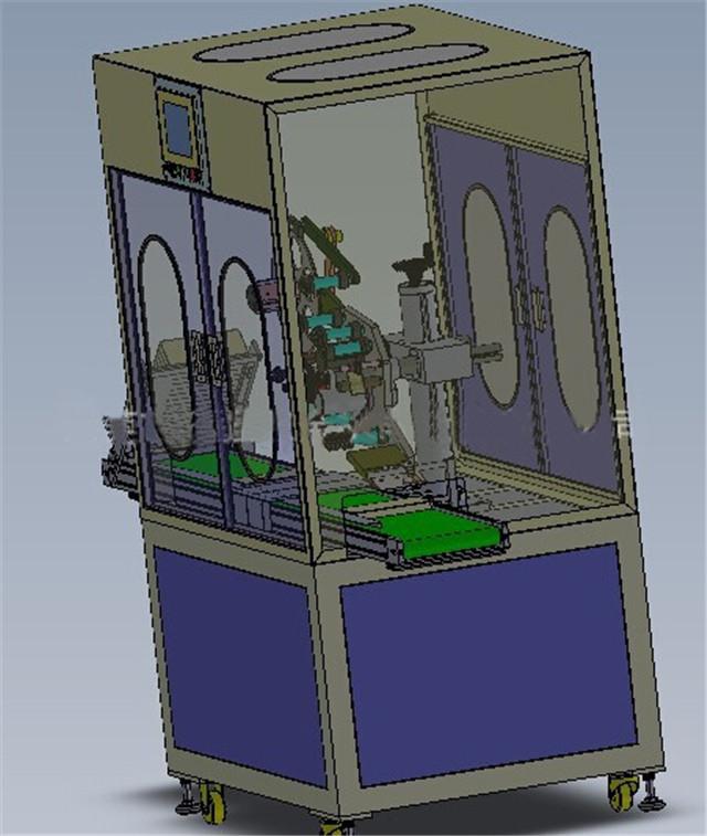 सुरक्षात्मक कक्ष के साथ फ्लैट सतह लेबलिंग मशीन