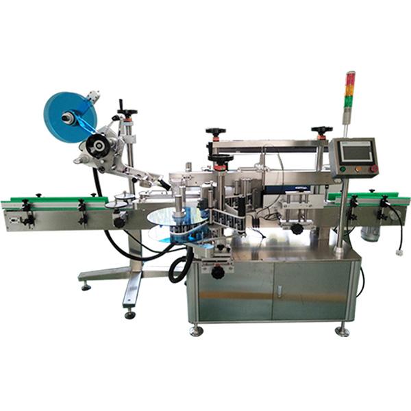 टॉप एंड फ्रंट एंड बैक साइड्स लेबलिंग मशीन